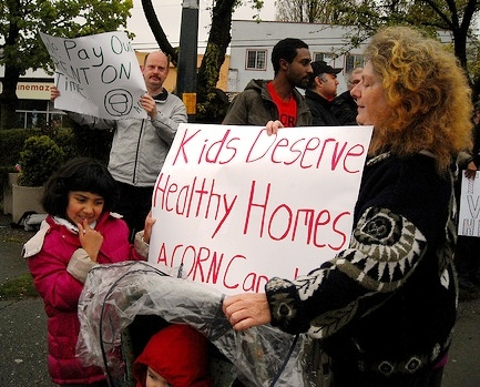 ACORN members rally for Healthy Homes.