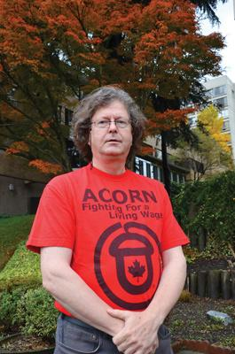 Tom Page, leader of BC ACORN's Disability Rights Group.