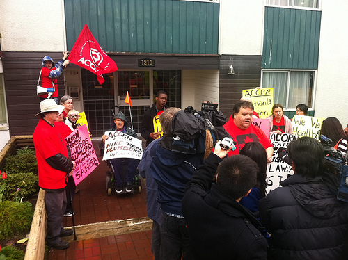 BC ACORN members rally for Healthy Homes