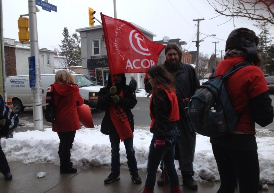 Ottawa ACORN taking action to raise the minimum wage.