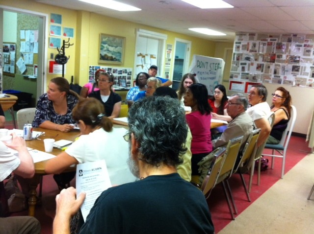 Ottawa ACORN planning meeting for August 29 Day of Action.
