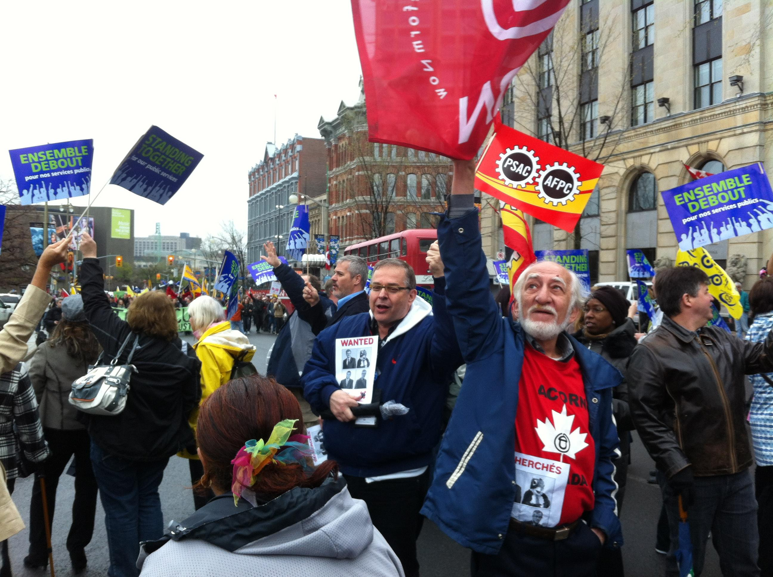 Ottawa ACORN with PSAC at May Day 2012.