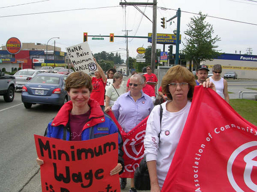 ACORN members and allies are taking action to raise the minimum wage.