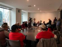 ACORN members and allies presenting their concerns to the Waterfront Board and CEO
