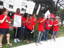 ACORN members fight for apartment repairs