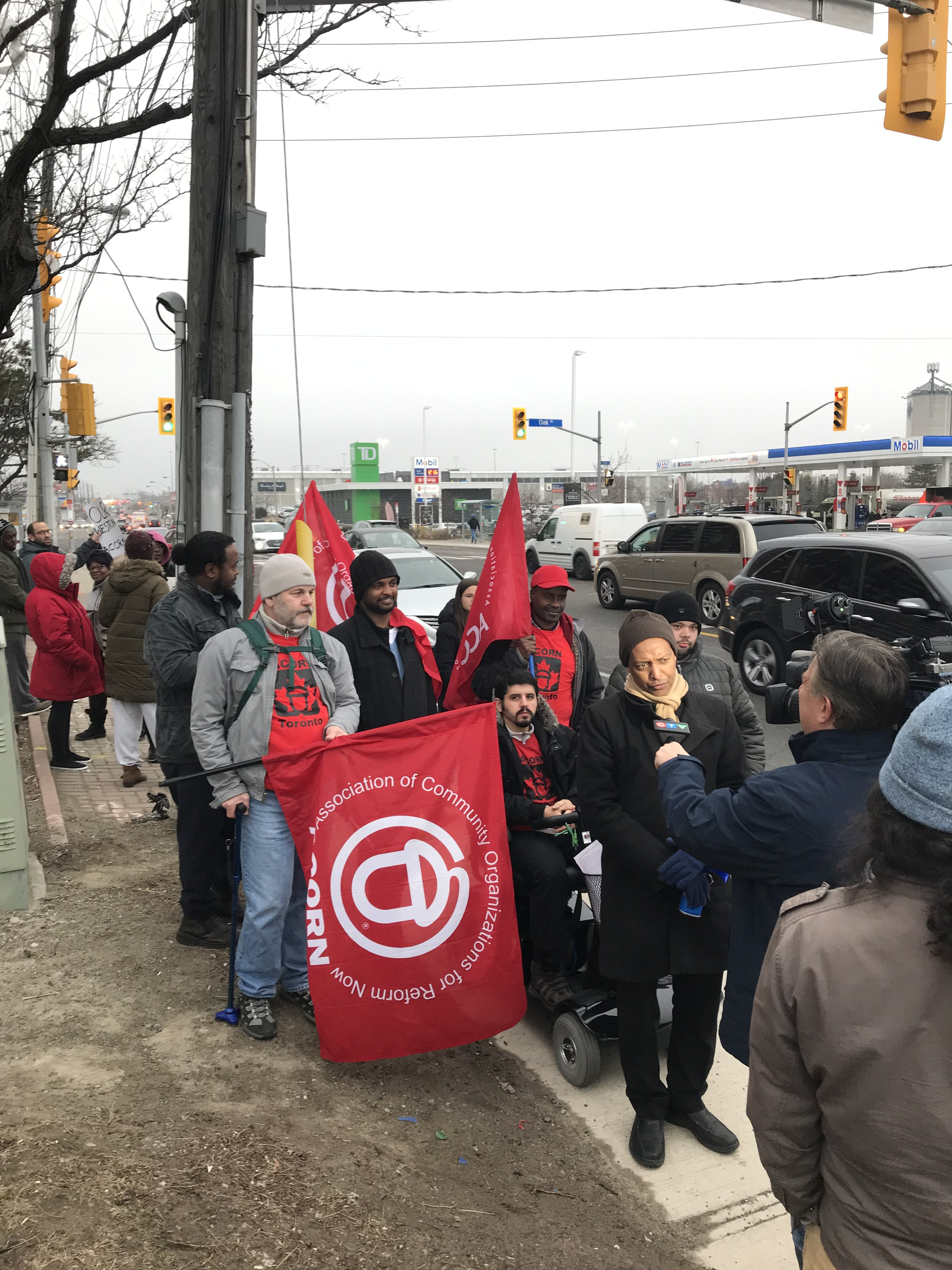 ACORN members rally in Weston